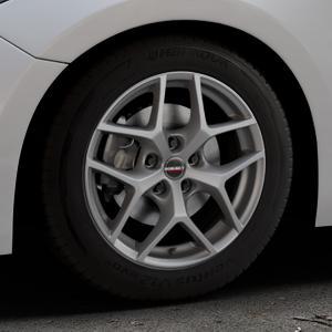 Borbet Y titan matt Felge mit Reifen grau in 16Zoll Winterfelge Alufelge auf silbernem Mazda 3 (13-) Stufenheck (BM) Sport (17-) Facelift Fließheck ⬇️ mit 15mm Tieferlegung ⬇️ Industriehalle 1 Thumbnail
