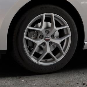 Borbet Y titan matt Felge mit Reifen grau in 16Zoll Winterfelge Alufelge auf silbernem Seat Leon Typ 5F ST Facelift ⬇️ mit 15mm Tieferlegung ⬇️ Industriehalle 1 Thumbnail
