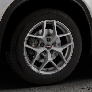 Borbet Y titan matt Felge mit Reifen grau in 16Zoll Winterfelge Alufelge auf silbernem Suzuki Vitara Typ LY ⬇️ mit 15mm Tieferlegung ⬇️ Industriehalle 1 Thumbnail
