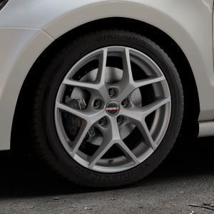 Borbet Y titan matt Felge mit Reifen grau in 16Zoll Winterfelge Alufelge auf silbernem Volkswagen (VW) Polo V Typ 6R ⬇️ mit 15mm Tieferlegung ⬇️ Industriehalle 1 Thumbnail