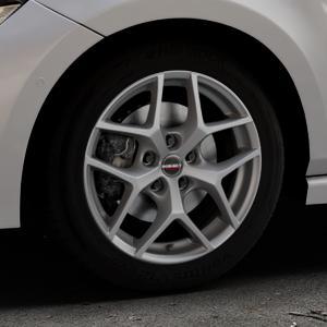 Borbet Y titan matt Felge mit Reifen grau in 16Zoll Winterfelge Alufelge auf silbernem Volkswagen (VW) Polo VI Typ AW ⬇️ mit 15mm Tieferlegung ⬇️ Industriehalle 1 Thumbnail