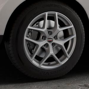 Borbet Y titan matt Felge mit Reifen grau in 17Zoll Winterfelge Alufelge auf silbernem Hyundai ix35 Typ EL ELH LM LMFC ⬇️ mit 15mm Tieferlegung ⬇️ Industriehalle 1 Thumbnail