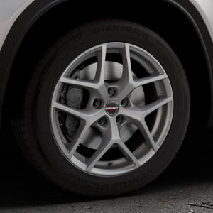 Borbet Y titan matt Felge mit Reifen grau in 17Zoll Winterfelge Alufelge auf silbernem Suzuki Vitara Typ LY ⬇️ mit 15mm Tieferlegung ⬇️ Industriehalle 1 Thumbnail