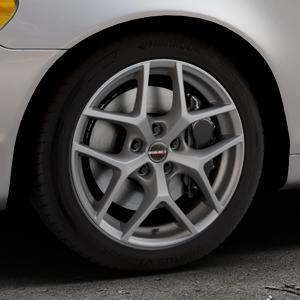 Borbet Y titan matt Felge mit Reifen grau in 17Zoll Winterfelge Alufelge auf silbernem Volvo C70 II Cabriolet Typ M ⬇️ mit 15mm Tieferlegung ⬇️ Industriehalle 1 Thumbnail
