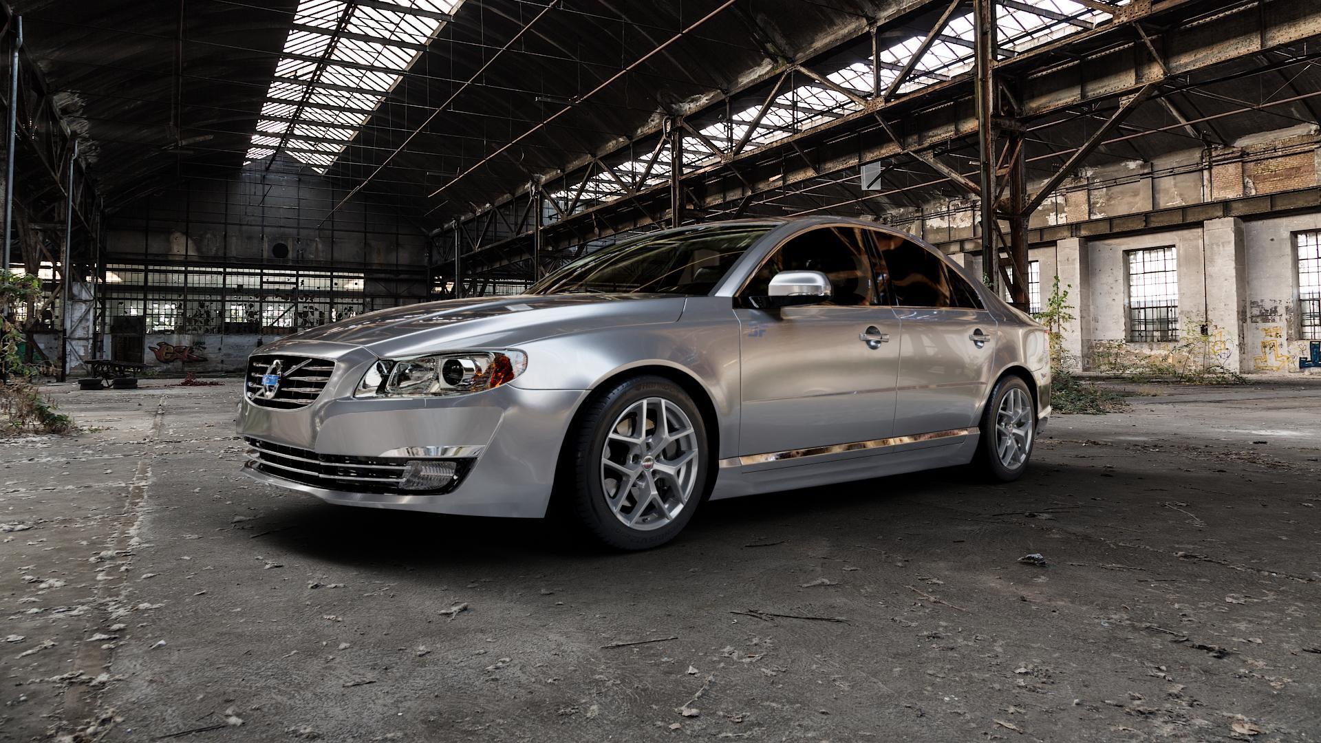 Borbet Y titan matt Felge mit Reifen grau in 17Zoll Winterfelge Alufelge auf silbernem Volvo S80 II Typ A ⬇️ mit 15mm Tieferlegung ⬇️ Industriehalle 1 Camera_000