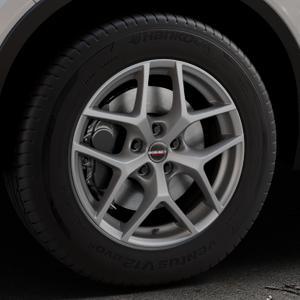 Borbet Y titan matt Felge mit Reifen grau in 17Zoll Winterfelge Alufelge auf silbernem Volvo XC40 Typ X ⬇️ mit 15mm Tieferlegung ⬇️ Industriehalle 1 Thumbnail