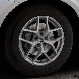 Borbet Y titan matt Felge mit Reifen grau in 17Zoll Winterfelge Alufelge auf silbernem Volvo XC60 Typ D Facelift ⬇️ mit 15mm Tieferlegung ⬇️ Industriehalle 1 Thumbnail