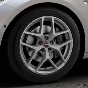 Borbet Y titan matt Felge mit Reifen grau in 18Zoll Winterfelge Alufelge auf silbernem BMW 535i GT Typ F07 xDrive 550i 530d 535d 520d 528i ⬇️ mit 15mm Tieferlegung ⬇️ Industriehalle 1 Thumbnail