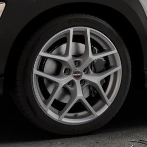 Borbet Y titan matt Felge mit Reifen grau in 18Zoll Winterfelge Alufelge auf silbernem Hyundai Kona Typ OS ⬇️ mit 15mm Tieferlegung ⬇️ Industriehalle 1 Thumbnail