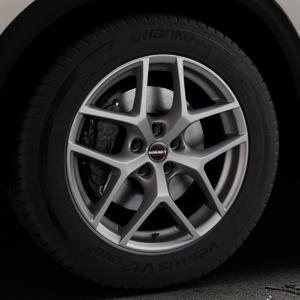 Borbet Y titan matt Felge mit Reifen grau in 18Zoll Winterfelge Alufelge auf silbernem Mazda CX-5 Typ KF ⬇️ mit 15mm Tieferlegung ⬇️ Industriehalle 1 Thumbnail
