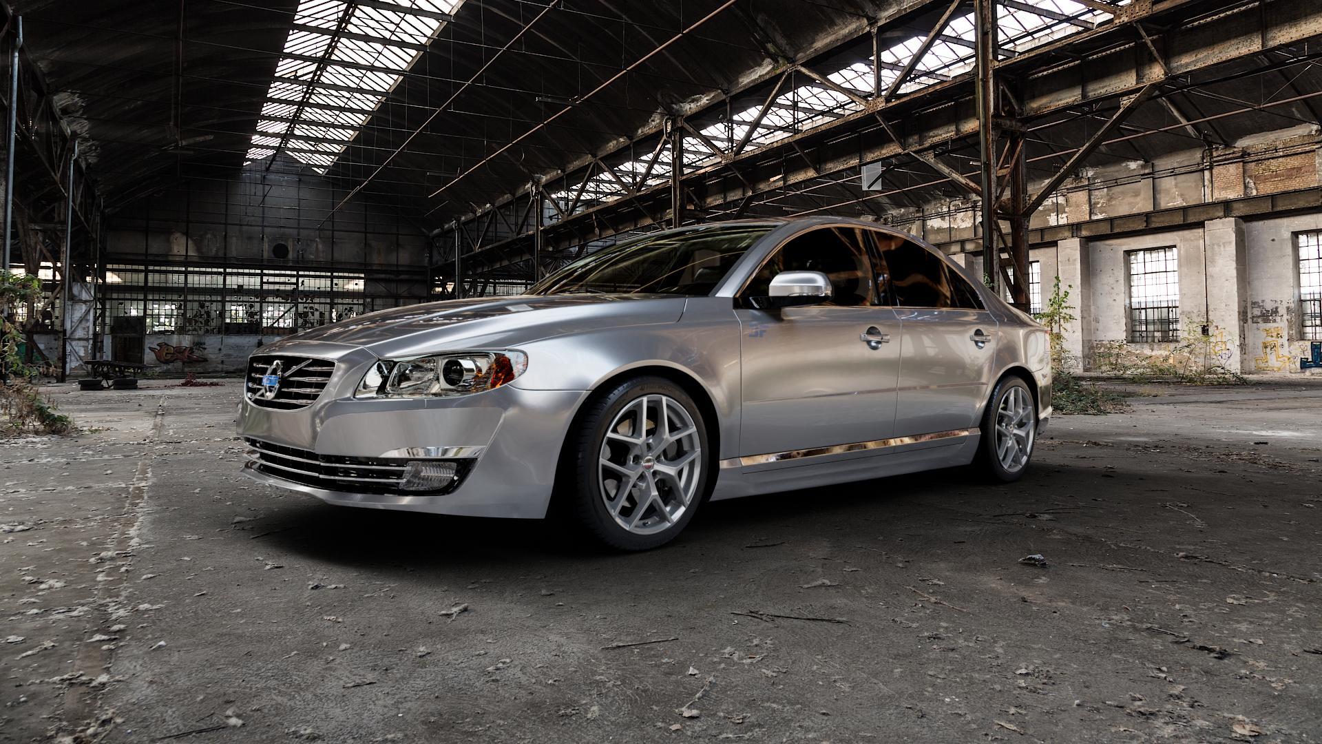 Borbet Y titan matt Felge mit Reifen grau in 18Zoll Winterfelge Alufelge auf silbernem Volvo S80 II Typ A ⬇️ mit 15mm Tieferlegung ⬇️ Industriehalle 1 Camera_000