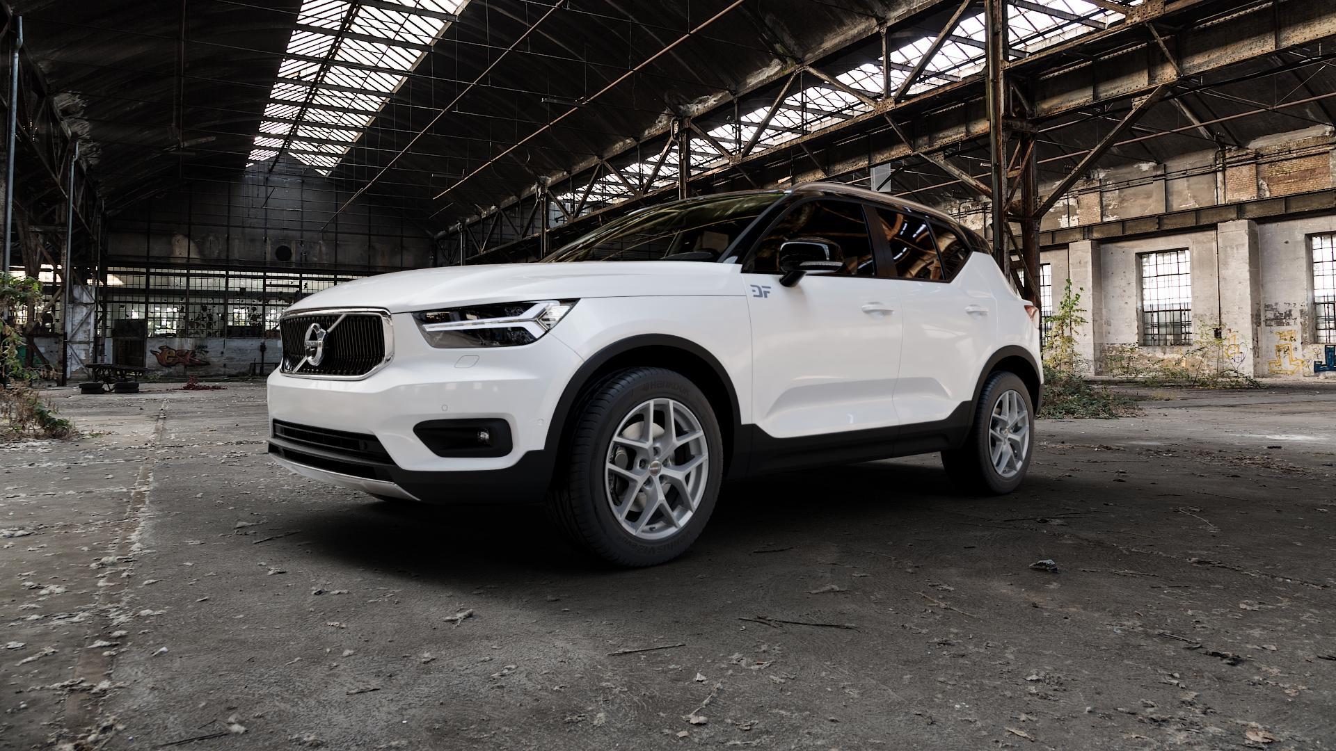 Borbet Y titan matt Felge mit Reifen grau in 18Zoll Winterfelge Alufelge auf weissem Volvo XC40 Typ X ⬇️ mit 15mm Tieferlegung ⬇️ Industriehalle 1 Camera_000