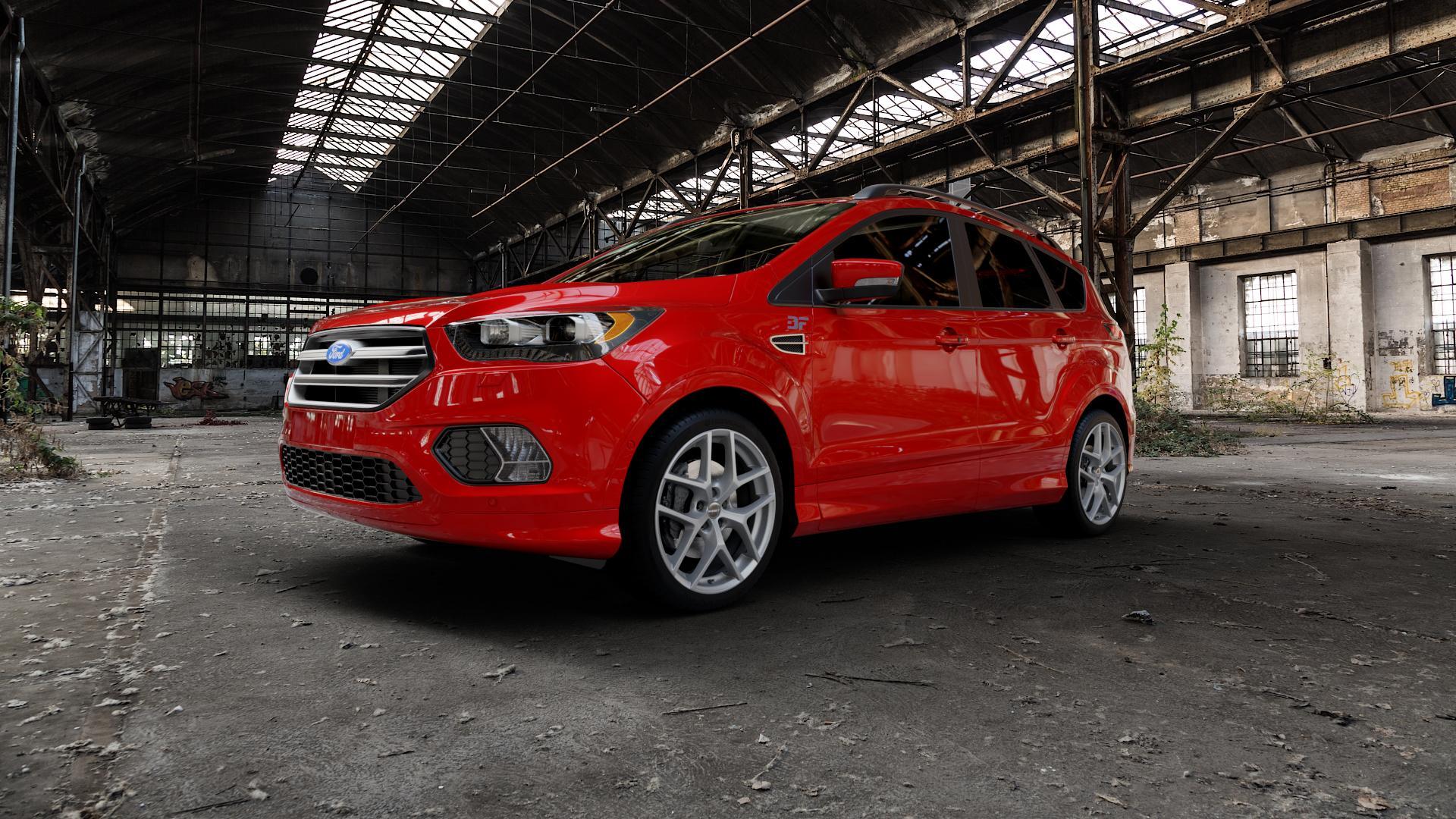 Borbet Y titan matt Felge mit Reifen grau in 19Zoll Winterfelge Alufelge auf rotem Ford Kuga II Facelift (15->) (17->) ⬇️ mit 15mm Tieferlegung ⬇️ Industriehalle 1 Camera_000