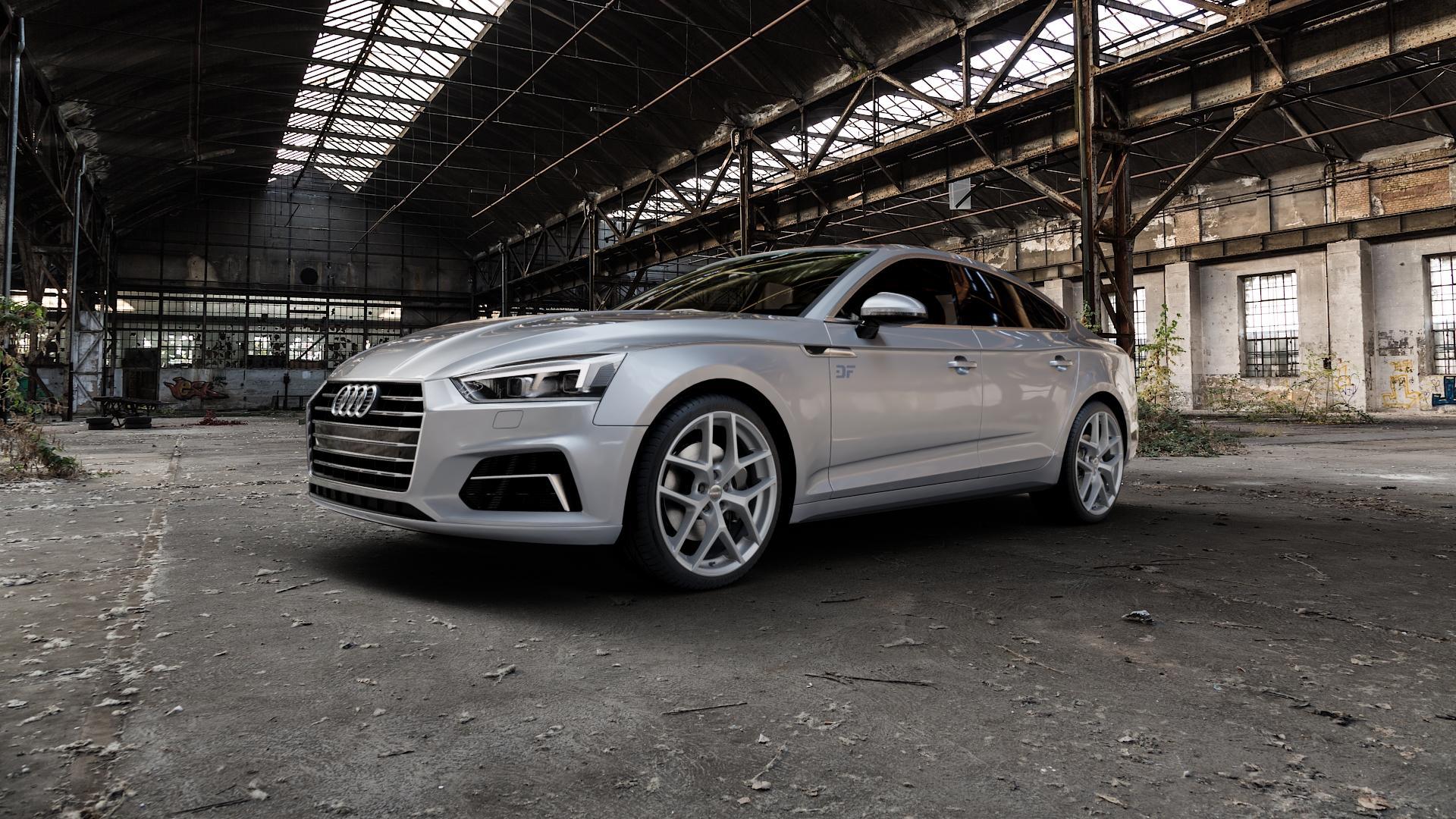 Borbet Y titan matt Felge mit Reifen grau in 19Zoll Winterfelge Alufelge auf silbernem Audi A5 Typ B9 (Sportback) 2,0l TDI 140kW (190 PS) quattro TFSI 185kW (252 3,0l 160kW (218 200kW (272 1,4l 110kW (150 183kW (249 g-tron 125kW (170 Mild-Hybrid 100kW (136 210kW (286 45 180kW (245 35 40 50 170kW (231 120kW (163 30 ⬇️ mit 15mm