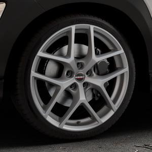 Borbet Y titan matt Felge mit Reifen grau in 19Zoll Winterfelge Alufelge auf silbernem Hyundai Kona Typ OS ⬇️ mit 15mm Tieferlegung ⬇️ Industriehalle 1 Thumbnail