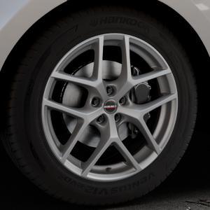 Borbet Y titan matt Felge mit Reifen grau in 19Zoll Winterfelge Alufelge auf silbernem Land Rover Range Velar Typ LY ⬇️ mit 15mm Tieferlegung ⬇️ Industriehalle 1 Thumbnail