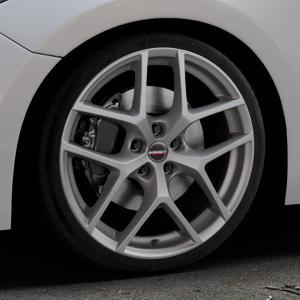 Borbet Y titan matt Felge mit Reifen grau in 19Zoll Winterfelge Alufelge auf silbernem Mazda 3 (13-) Stufenheck (BM) Sport (17-) Facelift Fließheck ⬇️ mit 15mm Tieferlegung ⬇️ Industriehalle 1 Thumbnail