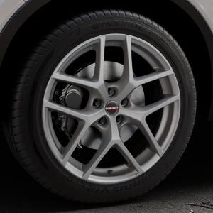 Borbet Y titan matt Felge mit Reifen grau in 19Zoll Winterfelge Alufelge auf silbernem Volvo XC40 Typ X ⬇️ mit 15mm Tieferlegung ⬇️ Industriehalle 1 Thumbnail