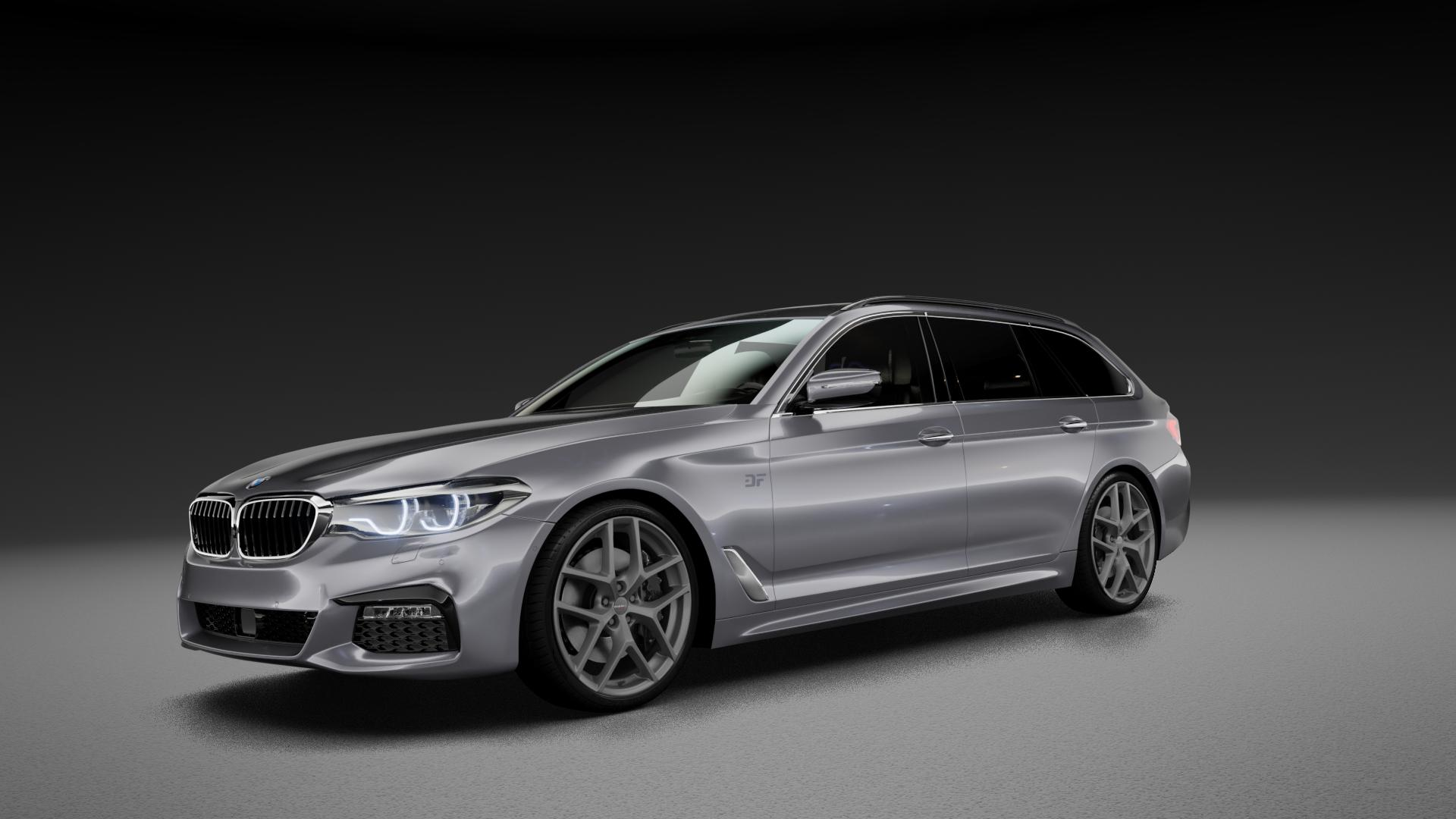 Borbet Y titan matt Felge mit Reifen grau in 20Zoll Winterfelge Alufelge auf silbernem BMW 5er G31 Touring (G5K) ⬇️ mit 15mm Tieferlegung ⬇️ Neutral_mid_max5300mm Frontansicht_1