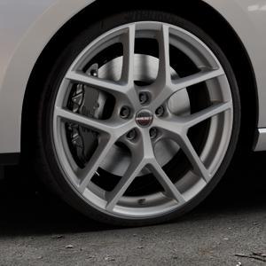 Borbet Y titan matt Felge mit Reifen grau in 20Zoll Winterfelge Alufelge auf silbernem Seat Leon Typ 5F ST Facelift ⬇️ mit 15mm Tieferlegung ⬇️ Industriehalle 1 Thumbnail