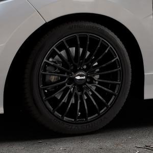Brock B24 schwarz lackiert Felge mit Reifen in 16Zoll Winterfelge Alufelge auf silbernem Honda Jazz IV (GK) Facelift ⬇️ mit 15mm Tieferlegung ⬇️ Industriehalle 1 Thumbnail