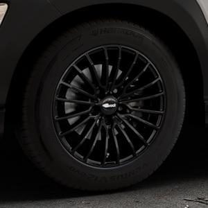 Brock B24 schwarz lackiert Felge mit Reifen in 16Zoll Winterfelge Alufelge auf silbernem Hyundai Kona Typ OS ⬇️ mit 15mm Tieferlegung ⬇️ Industriehalle 1 Thumbnail