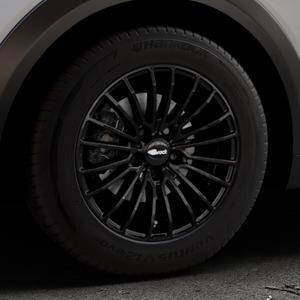 Brock B24 schwarz lackiert Felge mit Reifen in 16Zoll Winterfelge Alufelge auf silbernem Mazda CX-3 Typ DJ1 ⬇️ mit 15mm Tieferlegung ⬇️ Industriehalle 1 Thumbnail