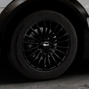 Brock B24 schwarz lackiert Felge mit Reifen in 16Zoll Winterfelge Alufelge auf silbernem Mini F54 Typ UKL-L (Clubman) FMK ⬇️ mit 15mm Tieferlegung ⬇️ Industriehalle 1 Thumbnail
