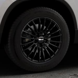 Brock B24 schwarz lackiert Felge mit Reifen in 16Zoll Winterfelge Alufelge auf silbernem Skoda Karoq Typ NU ⬇️ mit 15mm Tieferlegung ⬇️ Industriehalle 1 Thumbnail