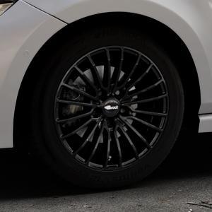 Brock B24 schwarz lackiert Felge mit Reifen in 16Zoll Winterfelge Alufelge auf silbernem Volkswagen (VW) Polo VI Typ AW ⬇️ mit 15mm Tieferlegung ⬇️ Industriehalle 1 Thumbnail