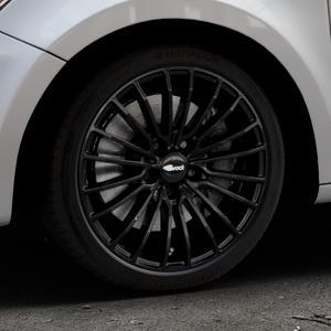 Brock B24 schwarz lackiert Felge mit Reifen in 17Zoll Winterfelge Alufelge auf silbernem Audi A1 Typ 8X ⬇️ mit 15mm Tieferlegung ⬇️ Industriehalle 1 Thumbnail
