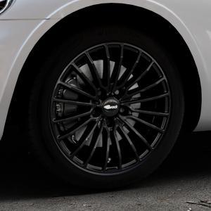 Brock B24 schwarz lackiert Felge mit Reifen in 17Zoll Winterfelge Alufelge auf silbernem Chrysler PT Cruiser Cabriolet ⬇️ mit 15mm Tieferlegung ⬇️ Industriehalle 1 Thumbnail