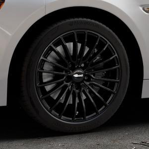 Brock B24 schwarz lackiert Felge mit Reifen in 17Zoll Winterfelge Alufelge auf silbernem Fiat 124 Spider Typ NF ⬇️ mit 15mm Tieferlegung ⬇️ Industriehalle 1 Thumbnail