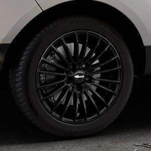 Brock B24 schwarz lackiert Felge mit Reifen in 17Zoll Winterfelge Alufelge auf silbernem Ford EcoSport Typ JK8 Facelift ⬇️ mit 15mm Tieferlegung ⬇️ Industriehalle 1 Thumbnail