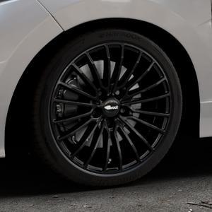 Brock B24 schwarz lackiert Felge mit Reifen in 17Zoll Winterfelge Alufelge auf silbernem Honda Jazz IV (GK) Facelift ⬇️ mit 15mm Tieferlegung ⬇️ Industriehalle 1 Thumbnail