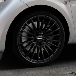 Brock B24 schwarz lackiert Felge mit Reifen in 17Zoll Winterfelge Alufelge auf silbernem Smart Fortwo Coupe III (14-) (453) Cabrio (16-) ⬇️ mit 15mm Tieferlegung ⬇️ Industriehalle 1 Thumbnail