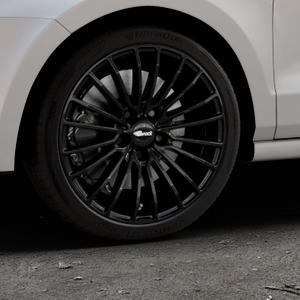Brock B24 schwarz lackiert Felge mit Reifen in 17Zoll Winterfelge Alufelge auf silbernem Volkswagen (VW) Polo V Typ 6C 1,0l 44kW (60 PS) 55kW (75 1,2l TSI 66kW (90 81kW (110 1,4l TDI 77kW (105 110kW (150 70kW (95 ⬇️ mit 15mm Tieferlegung ⬇️ Industriehalle 1 Thumbnail