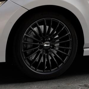 Brock B24 schwarz lackiert Felge mit Reifen in 17Zoll Winterfelge Alufelge auf silbernem Volkswagen (VW) Polo VI Typ AW ⬇️ mit 15mm Tieferlegung ⬇️ Industriehalle 1 Thumbnail