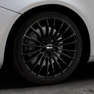 Brock B24 schwarz lackiert Felge mit Reifen in 18Zoll Winterfelge Alufelge auf silbernem Alfa Romeo Giulietta Typ 940 ⬇️ mit 15mm Tieferlegung ⬇️ Industriehalle 1 Thumbnail