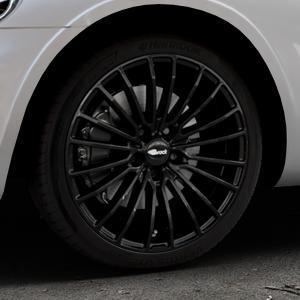 Brock B24 schwarz lackiert Felge mit Reifen in 18Zoll Winterfelge Alufelge auf silbernem Chrysler PT Cruiser Cabriolet ⬇️ mit 15mm Tieferlegung ⬇️ Industriehalle 1 Thumbnail