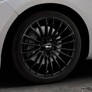 Brock B24 schwarz lackiert Felge mit Reifen in 18Zoll Winterfelge Alufelge auf silbernem Ford Mondeo IV Limousine Typ BA7 Turnier Fließheck ⬇️ mit 15mm Tieferlegung ⬇️ Industriehalle 1 Thumbnail