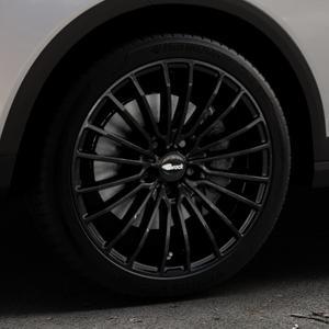 Brock B24 schwarz lackiert Felge mit Reifen in 18Zoll Winterfelge Alufelge auf silbernem Seat Arona Typ KJ ⬇️ mit 15mm Tieferlegung ⬇️ Industriehalle 1 Thumbnail