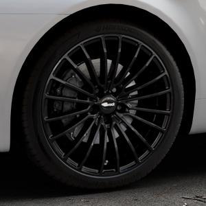 Brock B24 schwarz lackiert Felge mit Reifen in 19Zoll Winterfelge Alufelge auf silbernem Alfa Romeo 159 Sportwagon ⬇️ mit 15mm Tieferlegung ⬇️ Industriehalle 1 Thumbnail