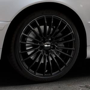 Brock B24 schwarz lackiert Felge mit Reifen in 19Zoll Winterfelge Alufelge auf silbernem BMW 520i Typ E39 (Limousine) 523i 525i 528i 530i 520d 525tds 530d 525d (Touring) 535i 540i 525td ⬇️ mit 15mm Tieferlegung ⬇️ Industriehalle 1 Thumbnail