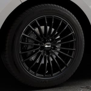 Brock B24 schwarz lackiert Felge mit Reifen in 19Zoll Winterfelge Alufelge auf silbernem Ford Edge Typ SBF ⬇️ mit 15mm Tieferlegung ⬇️ Industriehalle 1 Thumbnail