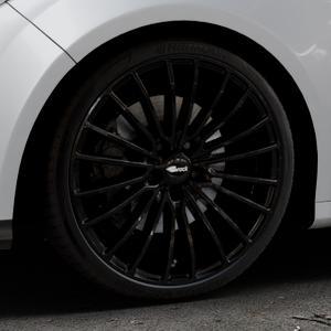 Brock B24 schwarz lackiert Felge mit Reifen in 19Zoll Winterfelge Alufelge auf silbernem Ford Focus III Typ DYB (Schrägheck) (Stufenheck) Facelift ⬇️ mit 15mm Tieferlegung ⬇️ Industriehalle 1 Thumbnail