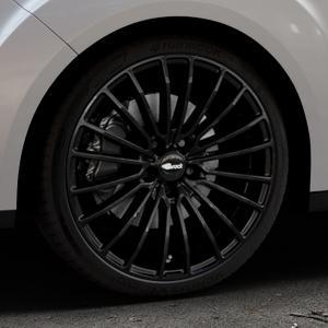 Brock B24 schwarz lackiert Felge mit Reifen in 19Zoll Winterfelge Alufelge auf silbernem Ford Grand C-Max Typ DXA Facelift (15->) ⬇️ mit 15mm Tieferlegung ⬇️ Industriehalle 1 Thumbnail