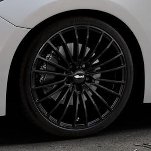 Brock B24 schwarz lackiert Felge mit Reifen in 19Zoll Winterfelge Alufelge auf silbernem Mazda 3 (13-) Stufenheck (BM) Sport (17-) Facelift Fließheck ⬇️ mit 15mm Tieferlegung ⬇️ Industriehalle 1 Thumbnail