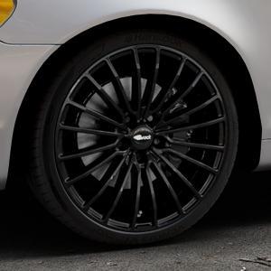 Brock B24 schwarz lackiert Felge mit Reifen in 19Zoll Winterfelge Alufelge auf silbernem Volvo C70 II Cabriolet Typ M ⬇️ mit 15mm Tieferlegung ⬇️ Industriehalle 1 Thumbnail