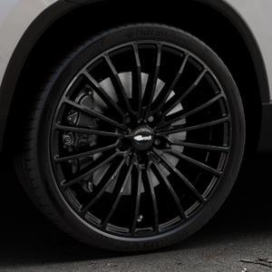Brock B24 schwarz lackiert Felge mit Reifen in 20Zoll Winterfelge Alufelge auf silbernem Skoda Karoq Typ NU ⬇️ mit 15mm Tieferlegung ⬇️ Industriehalle 1 Thumbnail
